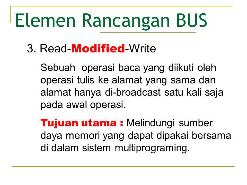 Elemen Rancangan BUS 3. Read-Modified-Write