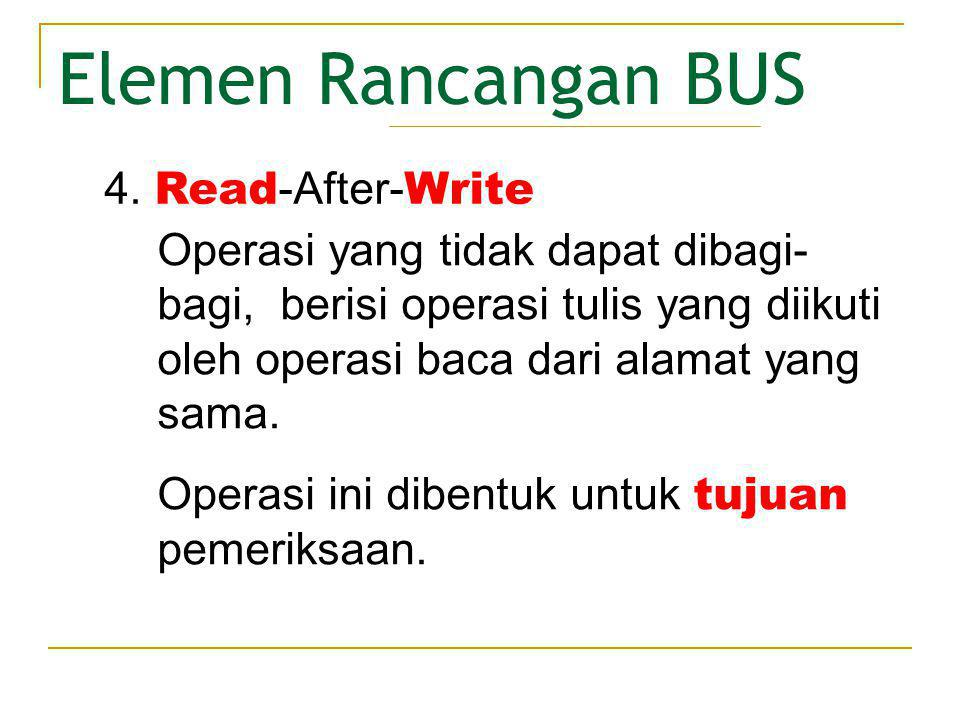 Elemen Rancangan BUS 4. Read-After-Write