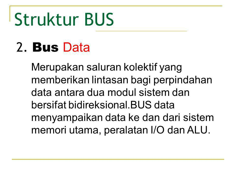 Struktur BUS 2. Bus Data.