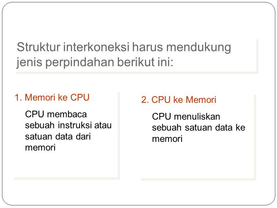 Struktur interkoneksi harus mendukung jenis perpindahan berikut ini: