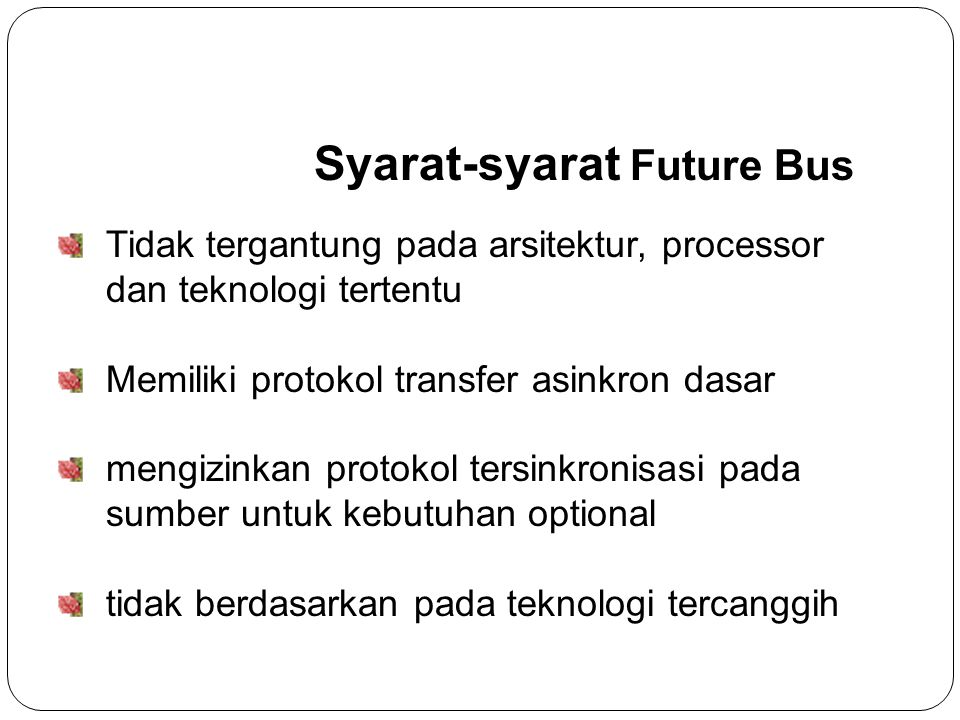 Syarat-syarat Future Bus