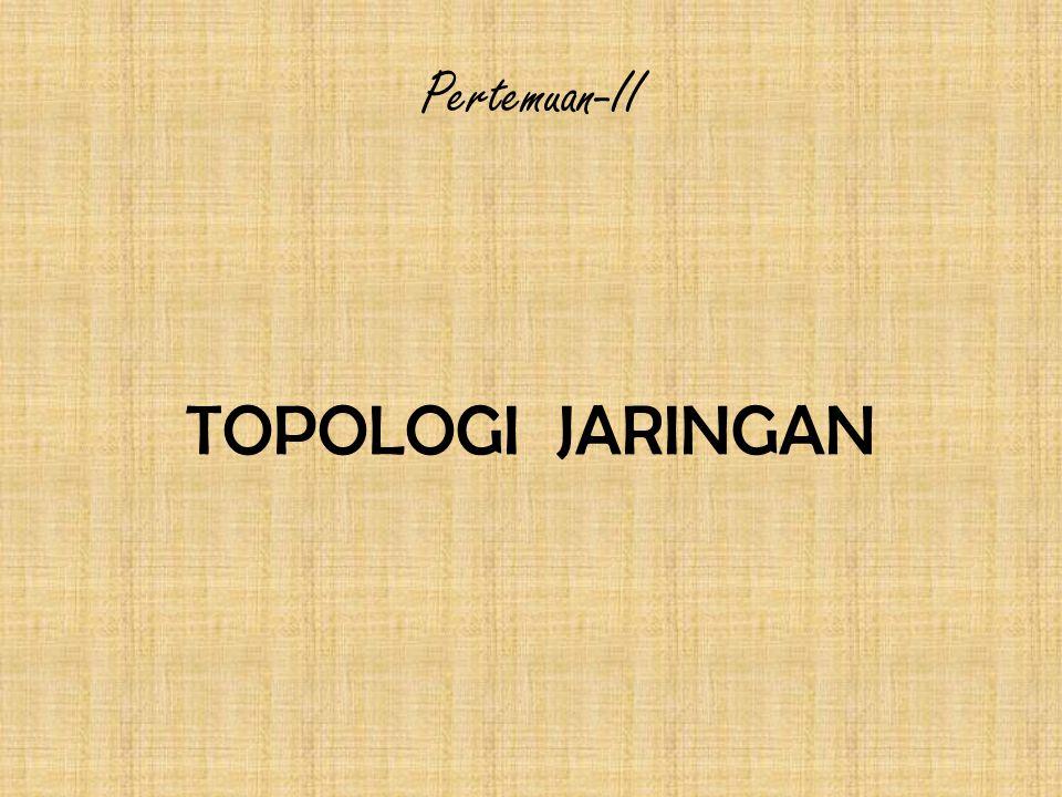 Pertemuan-II TOPOLOGI JARINGAN