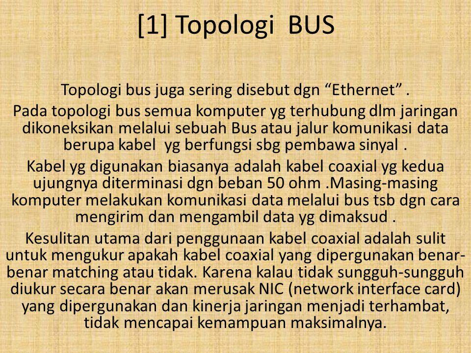 Topologi bus juga sering disebut dgn Ethernet .