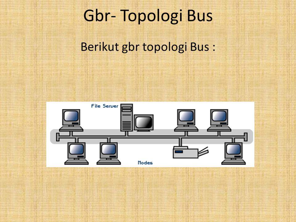 Berikut gbr topologi Bus :