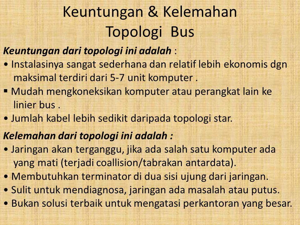 Keuntungan & Kelemahan Topologi Bus