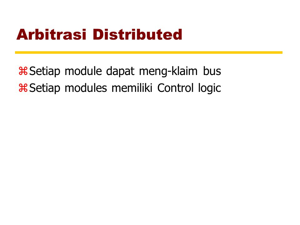 Arbitrasi Distributed