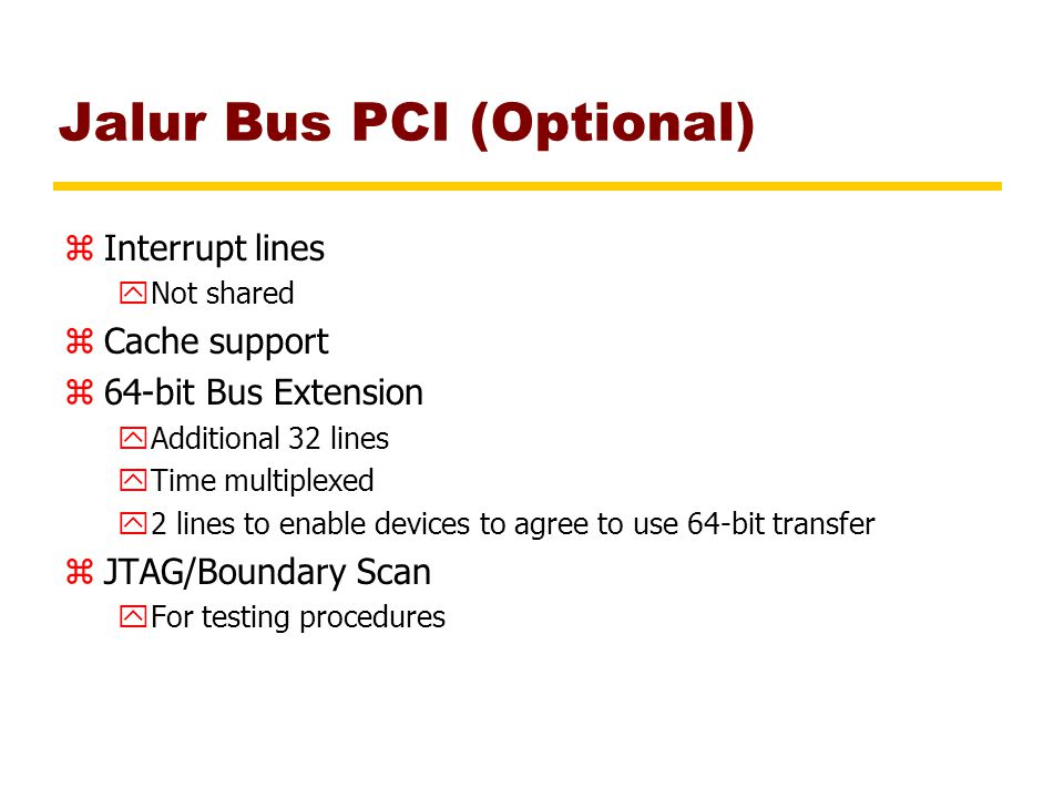 Jalur Bus PCI (Optional)