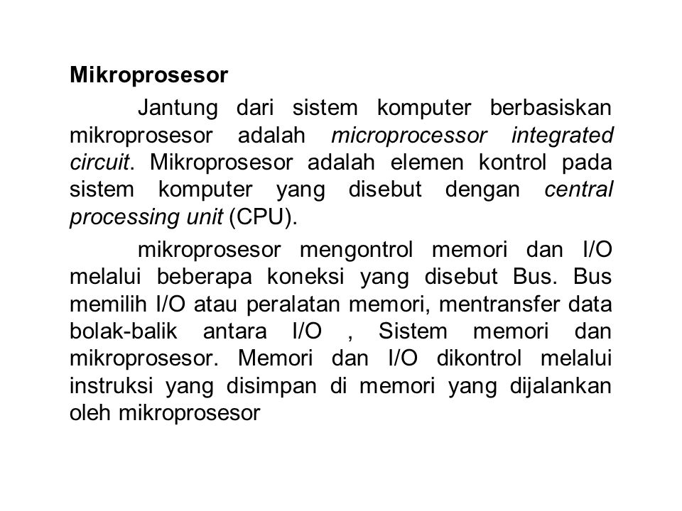 Mikroprosesor
