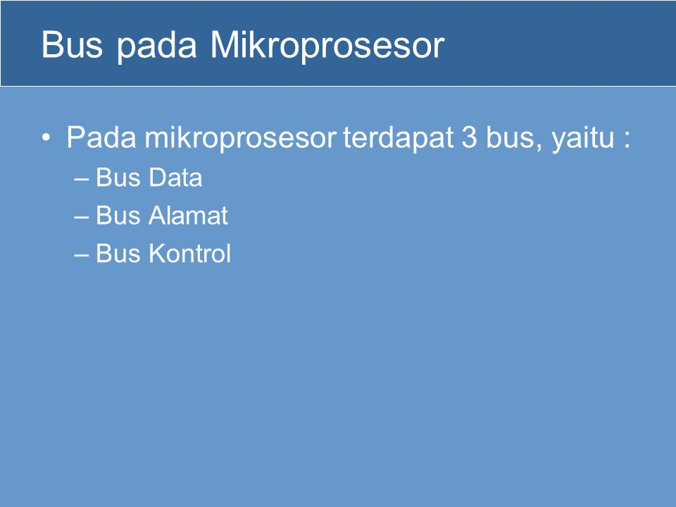 Bus pada Mikroprosesor