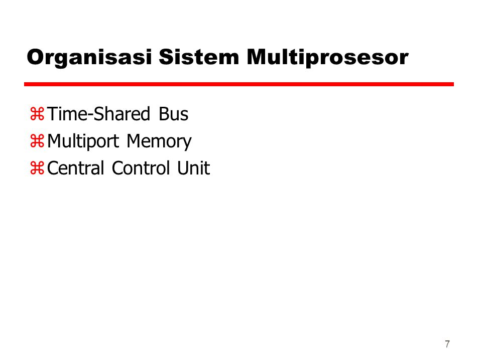Organisasi Sistem Multiprosesor