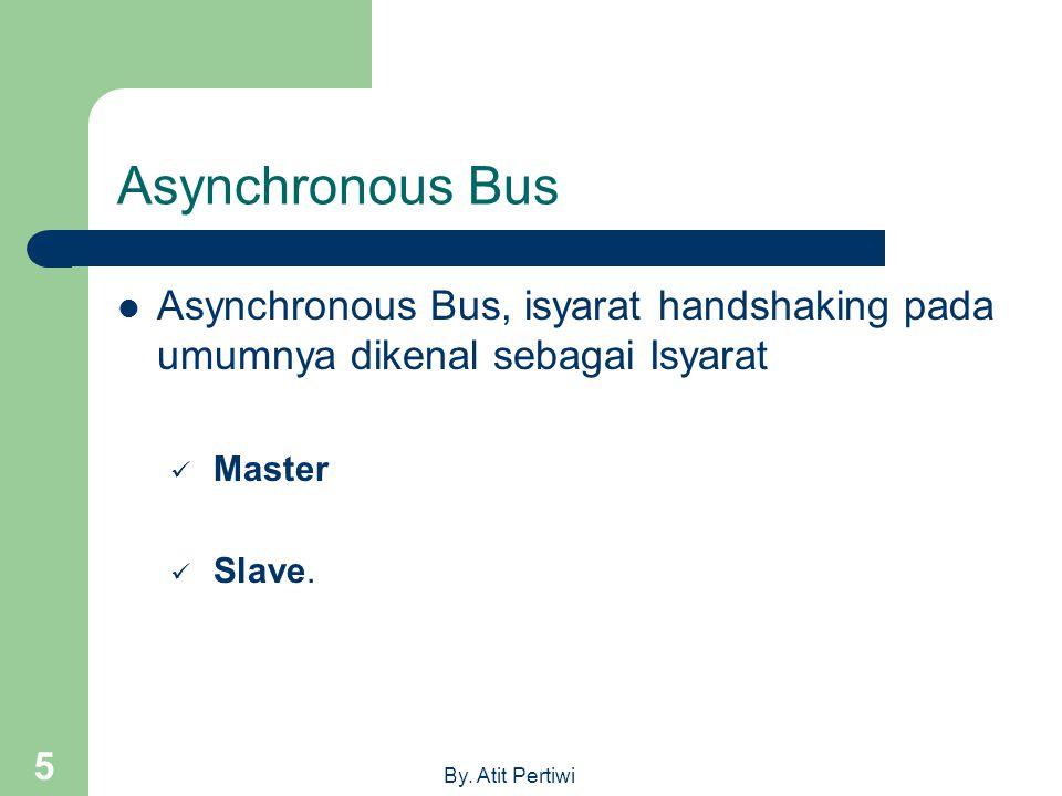 Asynchronous Bus Asynchronous Bus, isyarat handshaking pada umumnya dikenal sebagai Isyarat. Master.