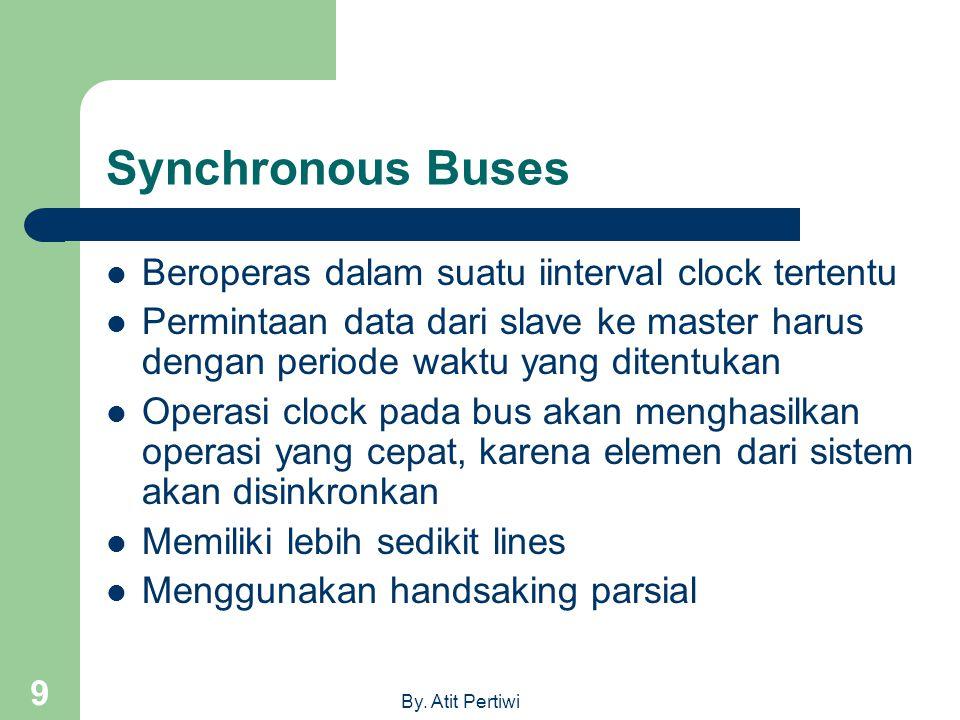 Synchronous Buses Beroperas dalam suatu iinterval clock tertentu