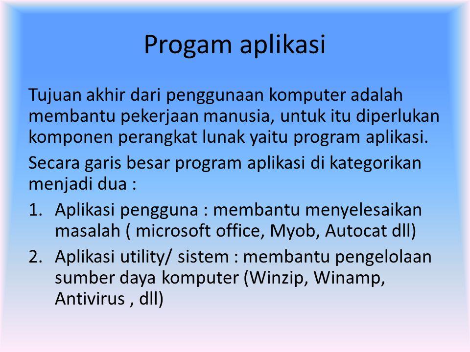 Progam aplikasi