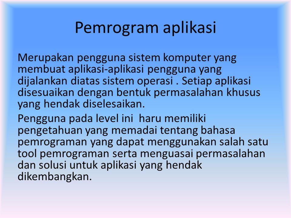 Pemrogram aplikasi