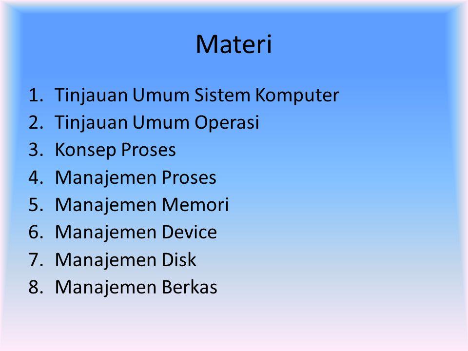 Materi Tinjauan Umum Sistem Komputer Tinjauan Umum Operasi