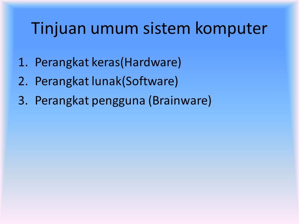 Tinjuan umum sistem komputer