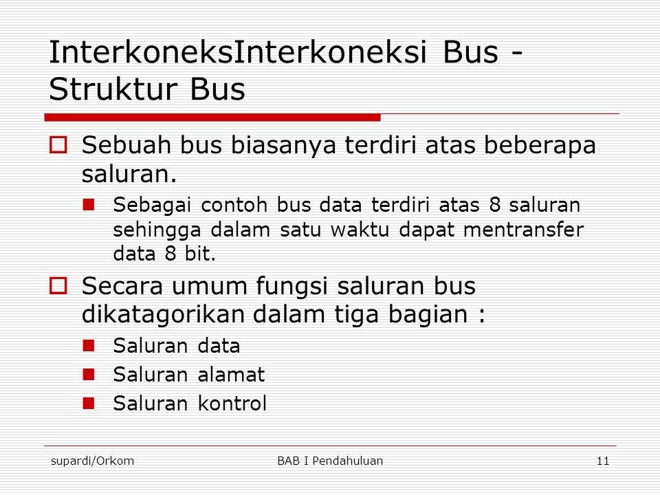 InterkoneksInterkoneksi Bus - Struktur Bus