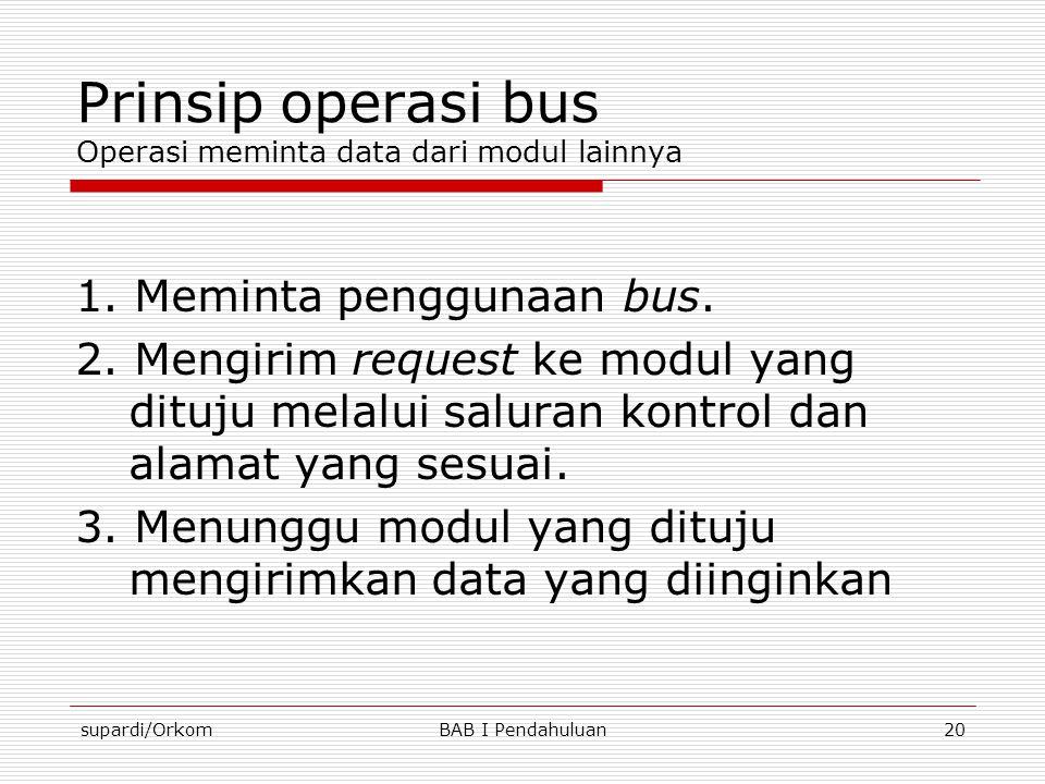 Prinsip operasi bus Operasi meminta data dari modul lainnya