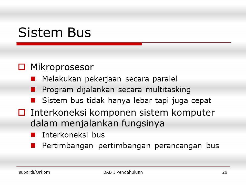 Sistem Bus Mikroprosesor