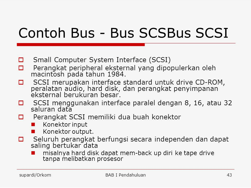Contoh Bus - Bus SCSBus SCSI