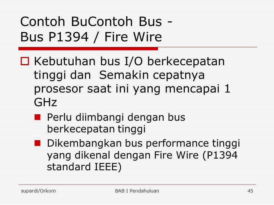 Contoh BuContoh Bus - Bus P1394 / Fire Wire