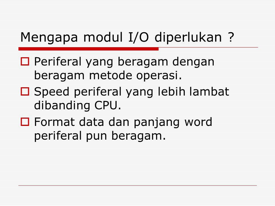 Mengapa modul I/O diperlukan