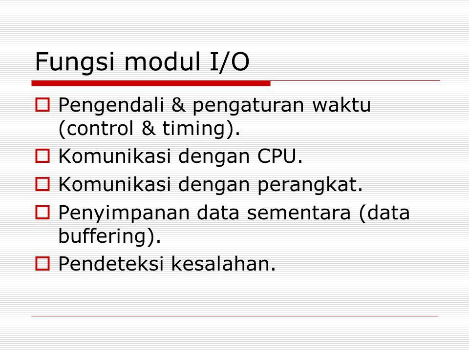 Fungsi modul I/O Pengendali & pengaturan waktu (control & timing).