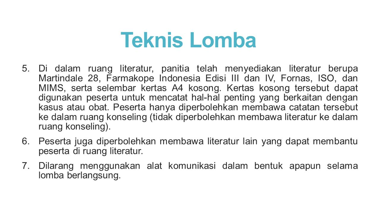 Teknis Lomba