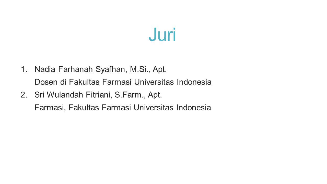 Juri Nadia Farhanah Syafhan, M.Si., Apt.