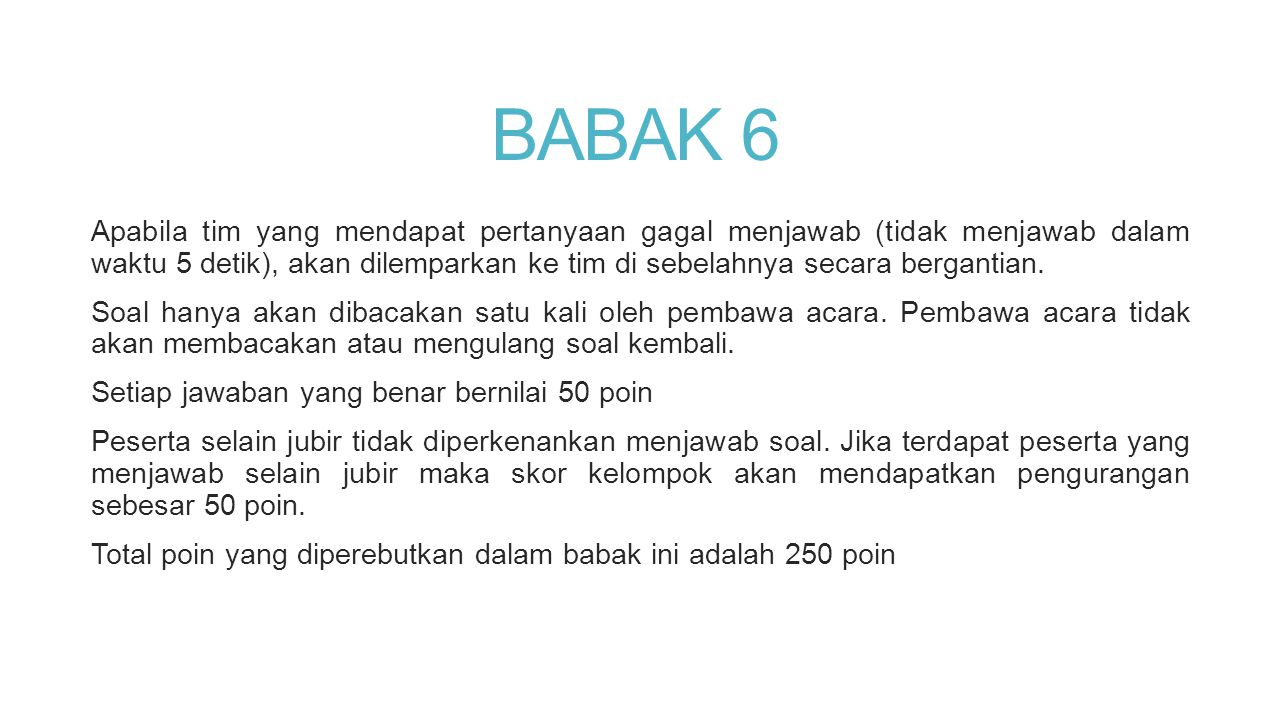 BABAK 6