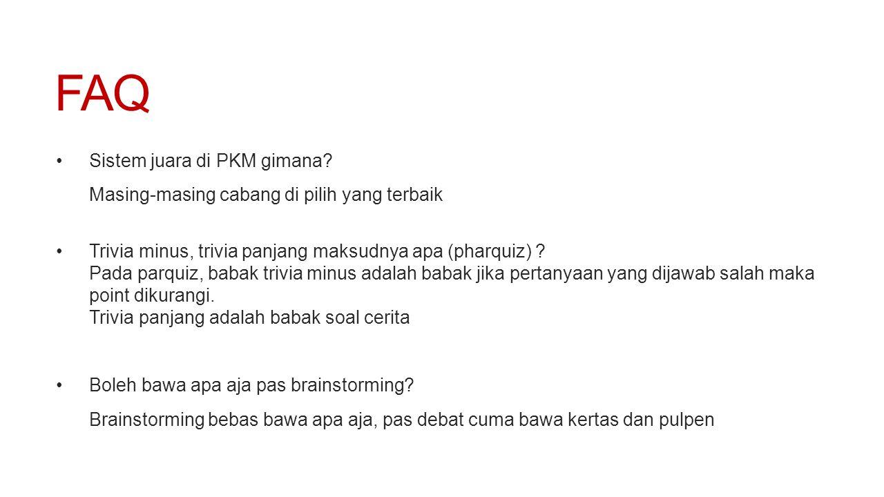 FAQ Sistem juara di PKM gimana