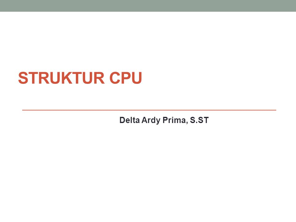 Struktur CPU Delta Ardy Prima, S.ST