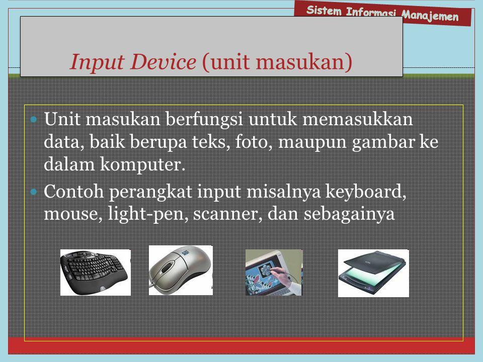 Input Device (unit masukan)
