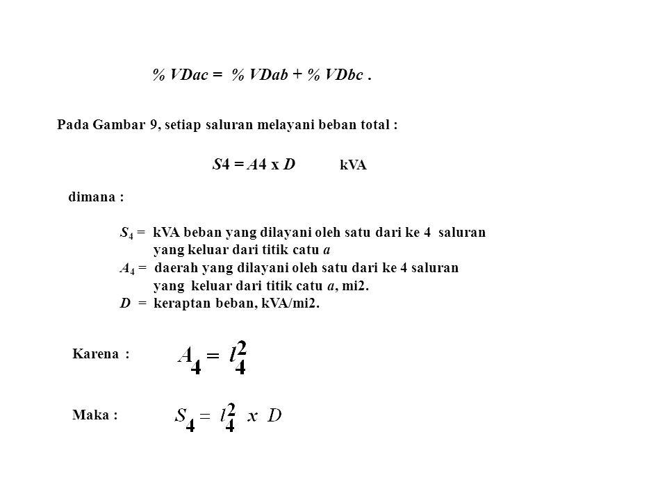 % VDac = % VDab + % VDbc . S4 = A4 x D kVA