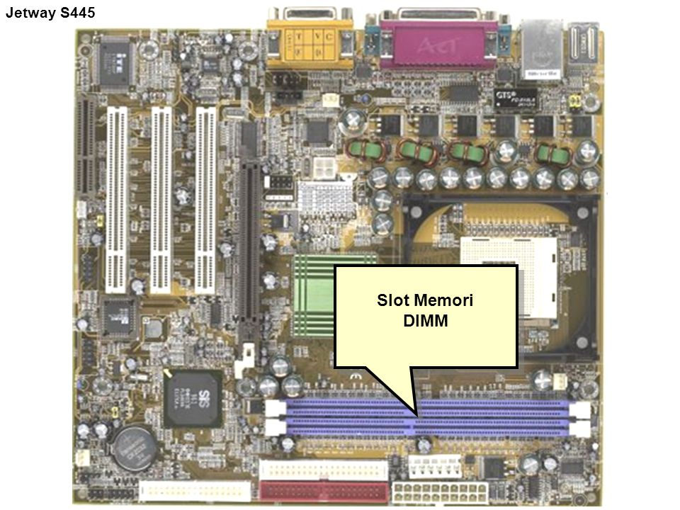 Jetway S445 Slot Memori DIMM