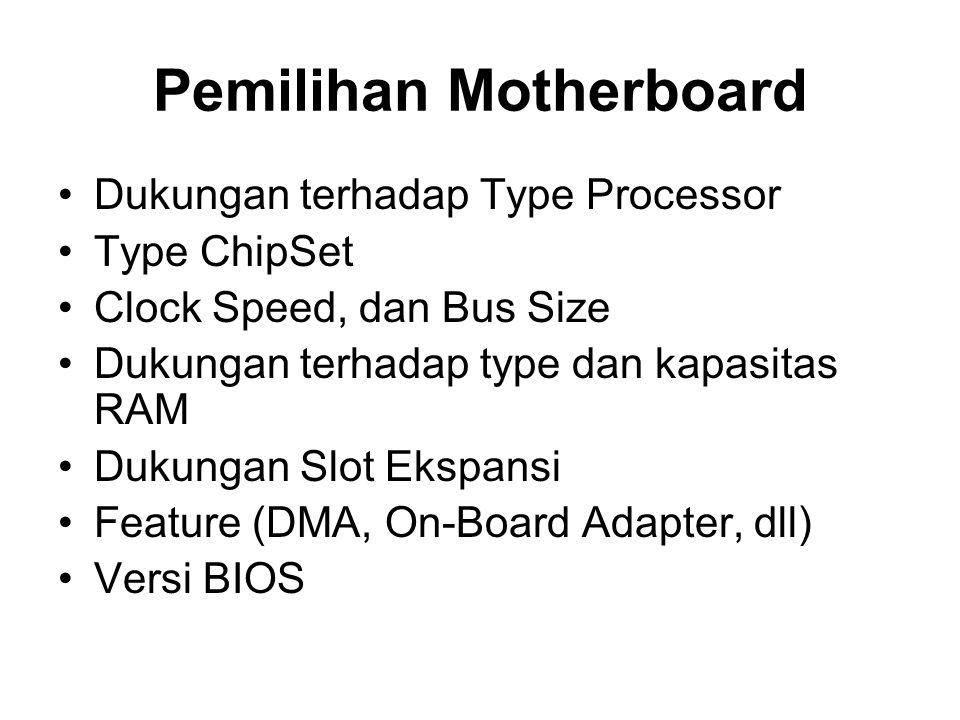 Pemilihan Motherboard