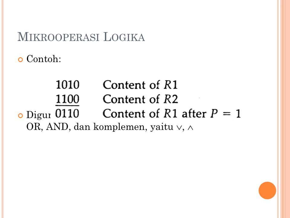 Mikrooperasi Logika Contoh: