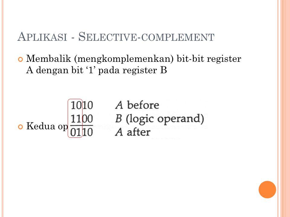 Aplikasi - Selective-complement