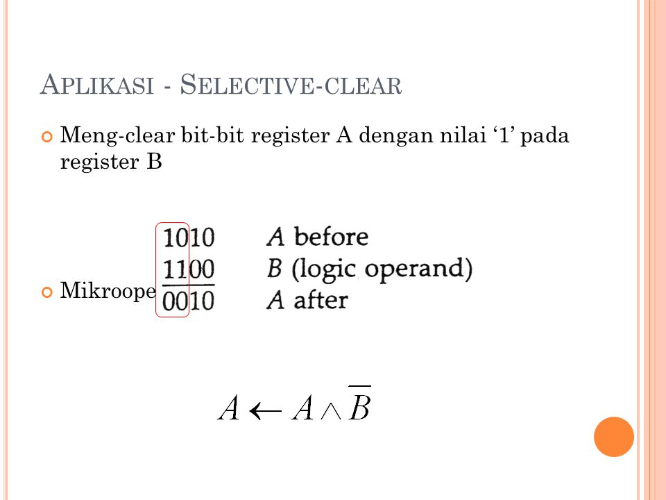 Aplikasi - Selective-clear