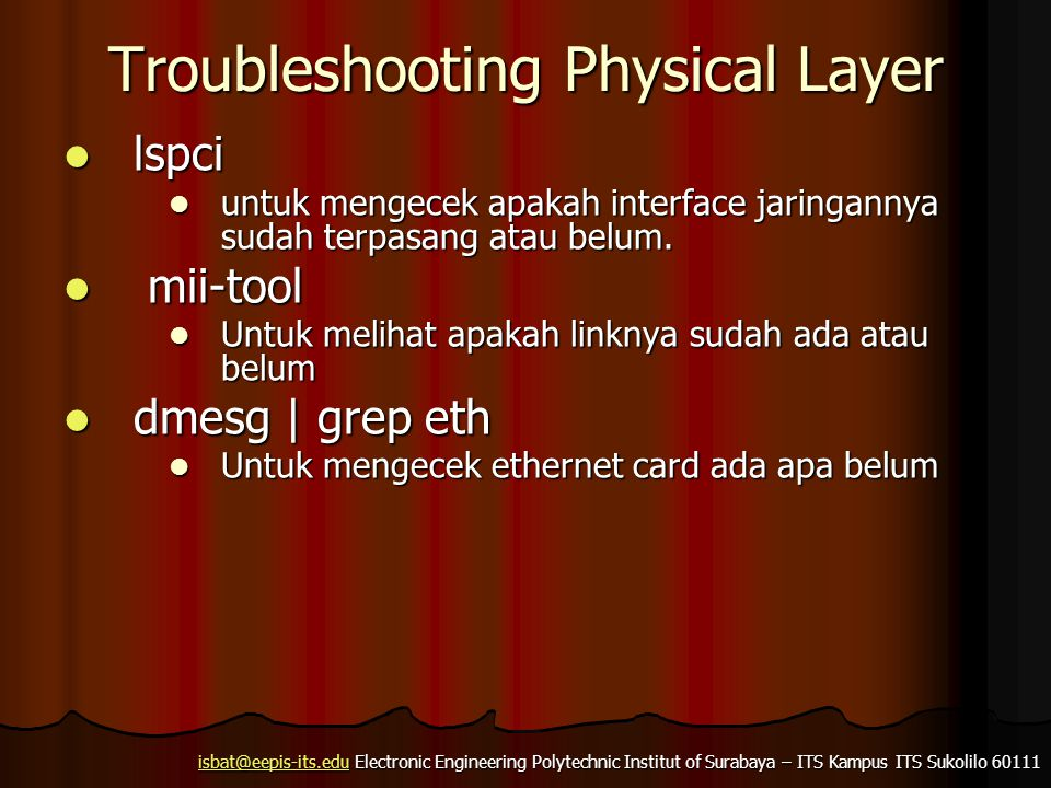 Troubleshooting Physical Layer