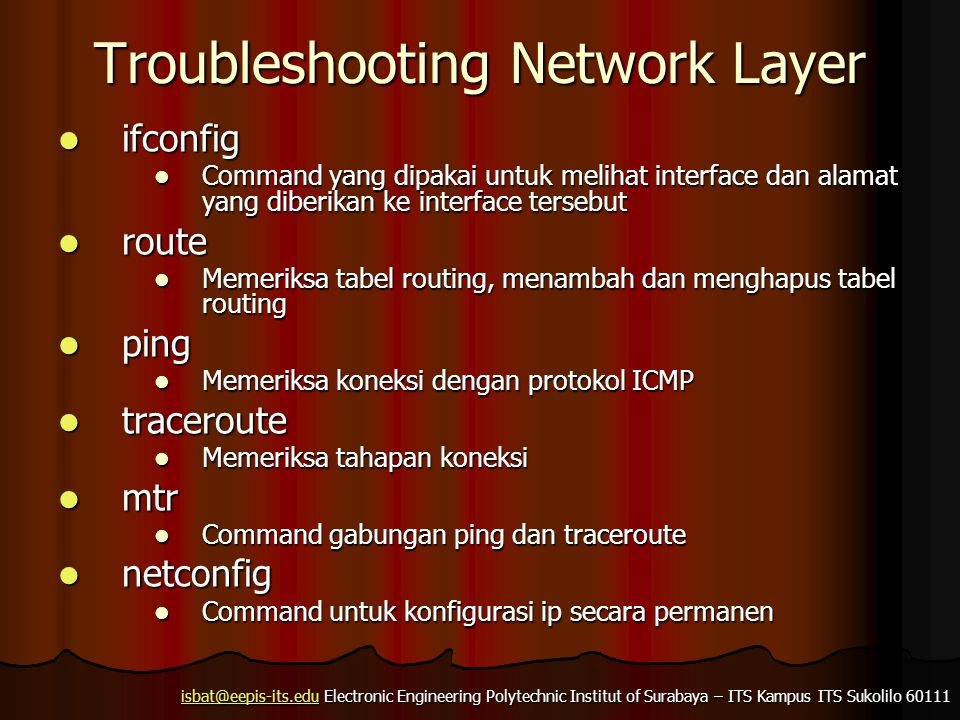 Troubleshooting Network Layer