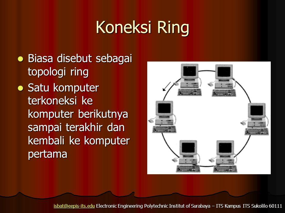 Koneksi Ring Biasa disebut sebagai topologi ring