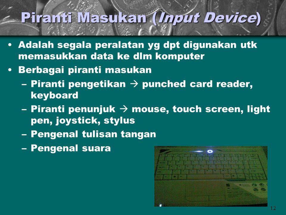 Piranti Masukan (Input Device)