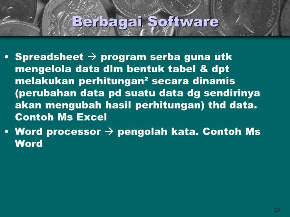 Berbagai Software