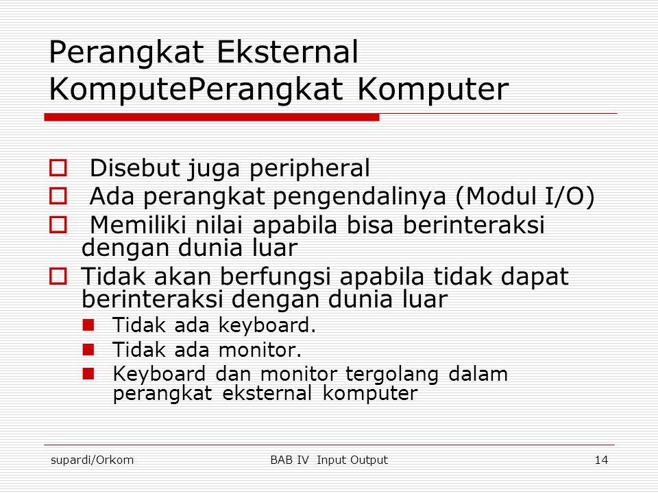 Perangkat Eksternal KomputePerangkat Komputer