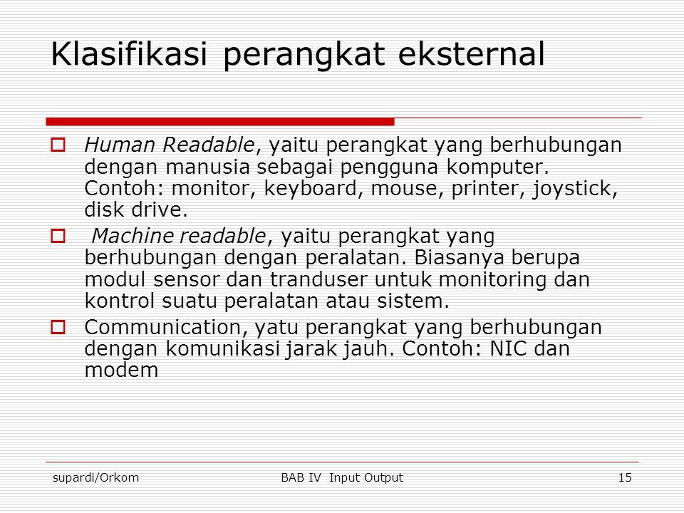 Klasifikasi perangkat eksternal