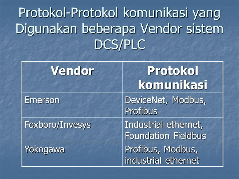 Protokol-Protokol komunikasi yang Digunakan beberapa Vendor sistem DCS/PLC
