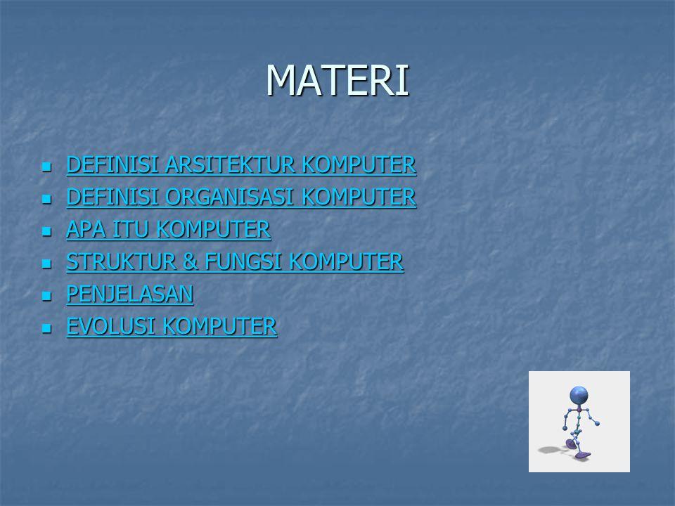 MATERI DEFINISI ARSITEKTUR KOMPUTER DEFINISI ORGANISASI KOMPUTER