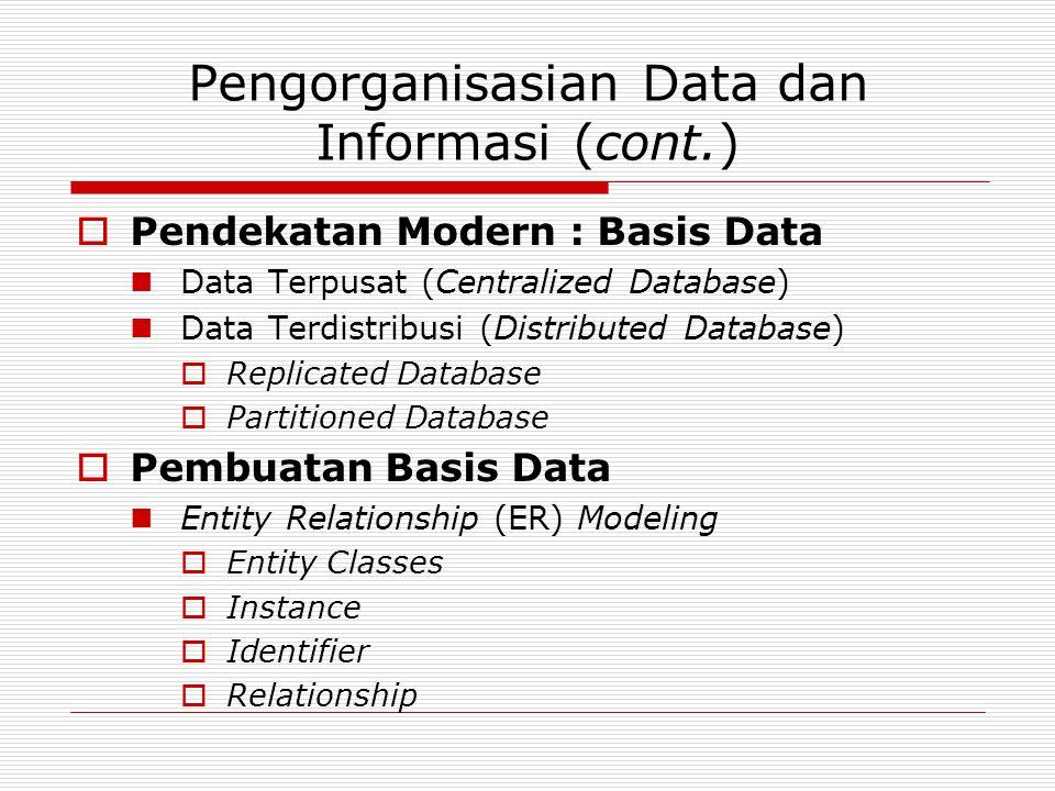 Pengorganisasian Data dan Informasi (cont.)