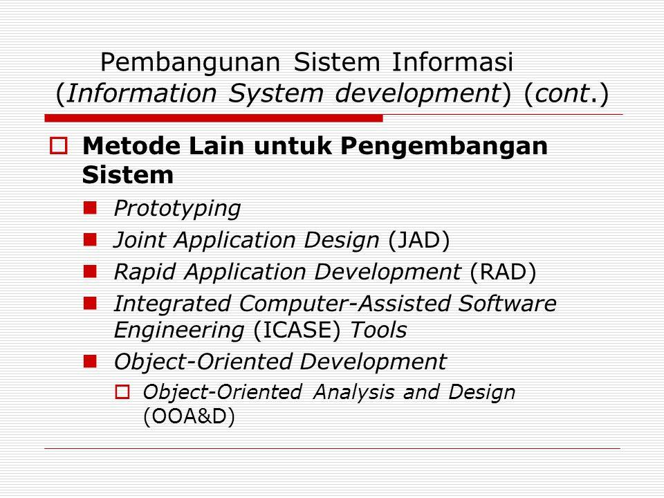 Pembangunan Sistem Informasi (Information System development) (cont.)